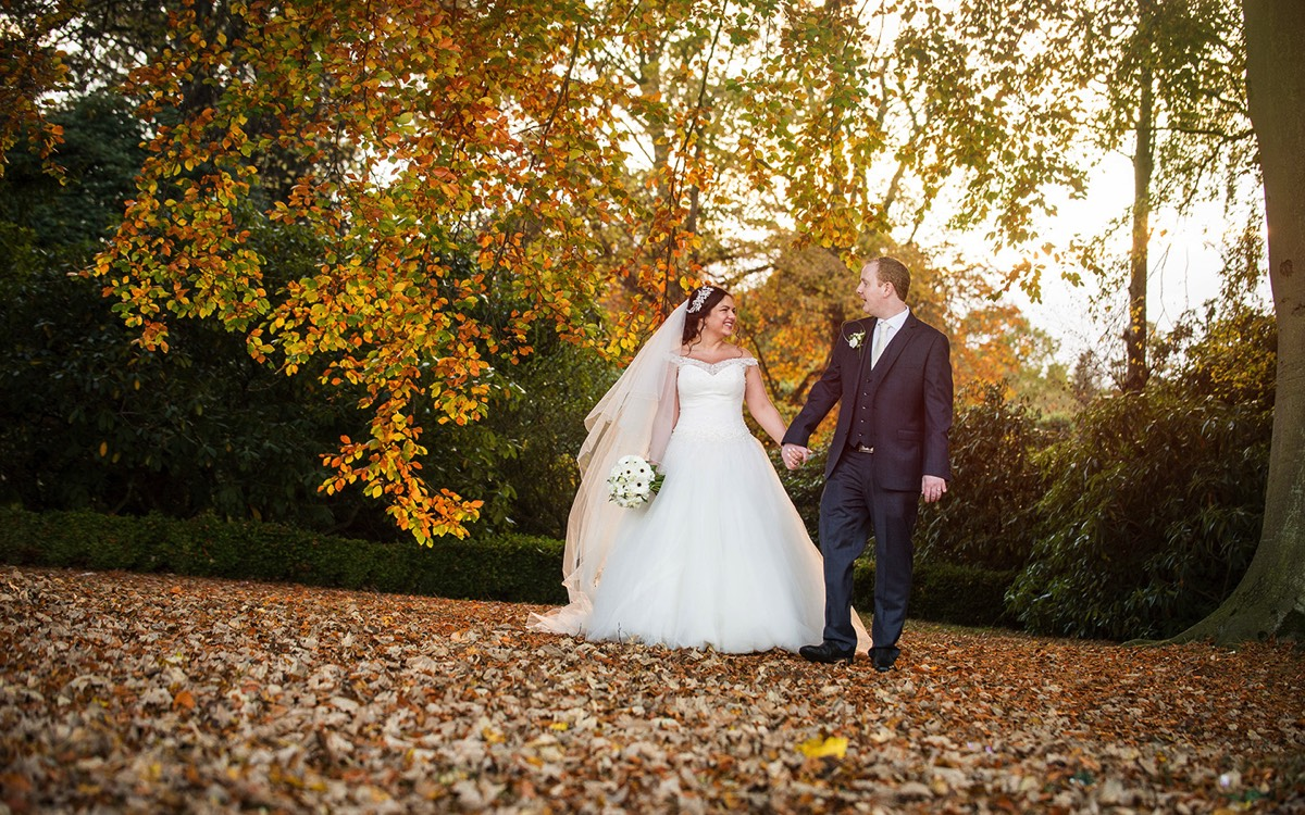Autumnal wedding at Rudding Park